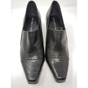 Franco Sarto Buttery Soft Black Leather Heel Shoes